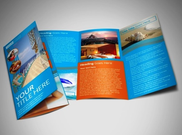 small format, color, brochures, tri-fold