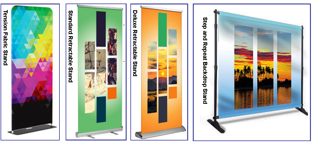 banners, posters, retractable, color